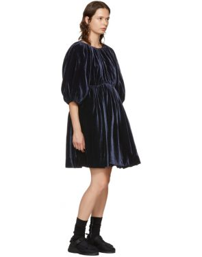 photo Navy Velvet Ava Dress by Cecilie Bahnsen - Image 5