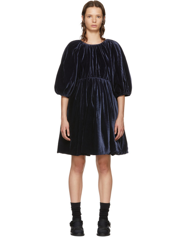 photo Navy Velvet Ava Dress by Cecilie Bahnsen - Image 1