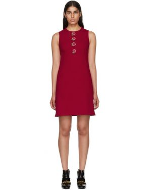 photo Pink Rose Buttons A-Line Dress by Dolce and Gabbana - Image 1