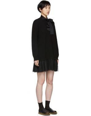 photo Black Tulle Underlay Dress by RED Valentino - Image 2