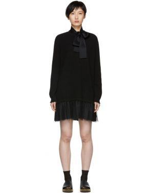 photo Black Tulle Underlay Dress by RED Valentino - Image 1