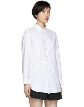 photo White Frill Shirt Dress by RED Valentino - Image 2