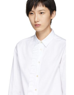 photo White Frill Shirt Dress by RED Valentino - Image 4