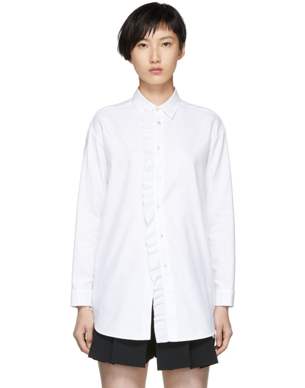photo White Frill Shirt Dress by RED Valentino - Image 1