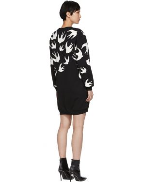 photo Black Swallow Signature Sweatshirt Dress by McQ Alexander McQueen - Image 3