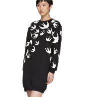 photo Black Swallow Signature Sweatshirt Dress by McQ Alexander McQueen - Image 4