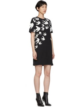 photo Black Swallow Signature T-Shirt Dress by McQ Alexander McQueen - Image 2
