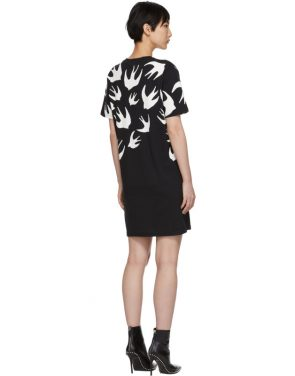 photo Black Swallow Signature T-Shirt Dress by McQ Alexander McQueen - Image 3