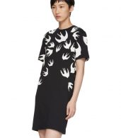 photo Black Swallow Signature T-Shirt Dress by McQ Alexander McQueen - Image 4