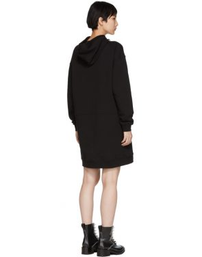 photo Black Hoodie Dress by McQ Alexander McQueen - Image 3