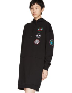 photo Black Hoodie Dress by McQ Alexander McQueen - Image 4