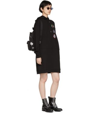 photo Black Hoodie Dress by McQ Alexander McQueen - Image 5