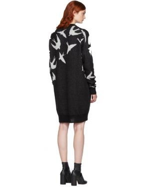 photo Black and White Swallow Swarm Dress by McQ Alexander McQueen - Image 3