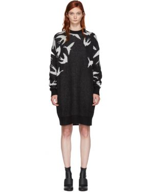 photo Black and White Swallow Swarm Dress by McQ Alexander McQueen - Image 1