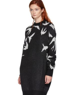 photo Black and White Swallow Swarm Dress by McQ Alexander McQueen - Image 4