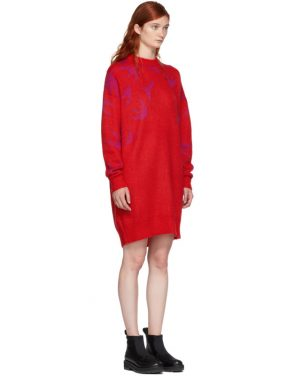 photo Red and Pink Swallow Swarm Dress by McQ Alexander McQueen - Image 2