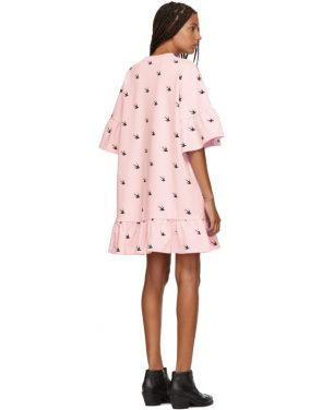 photo Pink Mini Swallow Ruffled T-Shirt Dress by McQ Alexander McQueen - Image 3