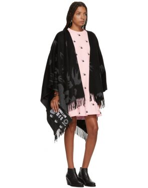 photo Pink Mini Swallow Ruffled T-Shirt Dress by McQ Alexander McQueen - Image 5