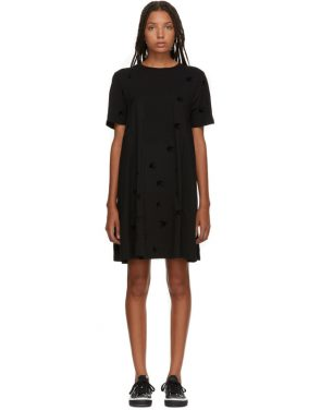 photo Black Cut Babydoll Dress by McQ Alexander McQueen - Image 1