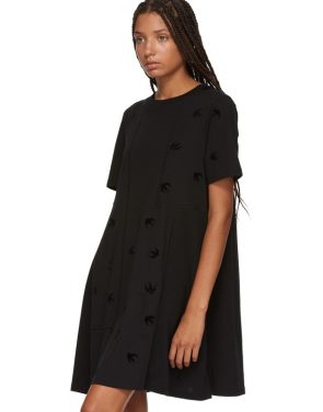 photo Black Cut Babydoll Dress by McQ Alexander McQueen - Image 4