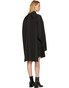 photo Black Poplin Shirt Dress by Maison Margiela - Image 3