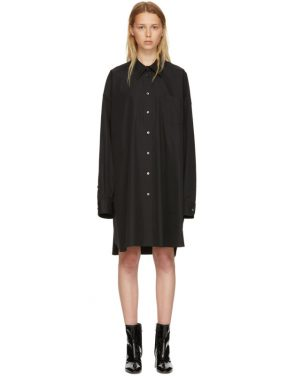 photo Black Poplin Shirt Dress by Maison Margiela - Image 1
