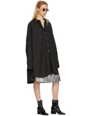 photo Black Poplin Shirt Dress by Maison Margiela - Image 5