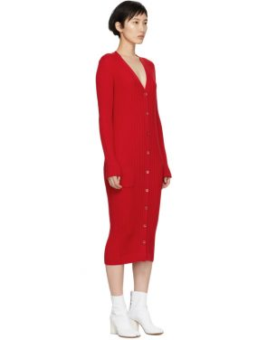 photo Red Ribbed Dress by Maison Margiela - Image 2