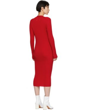 photo Red Ribbed Dress by Maison Margiela - Image 3