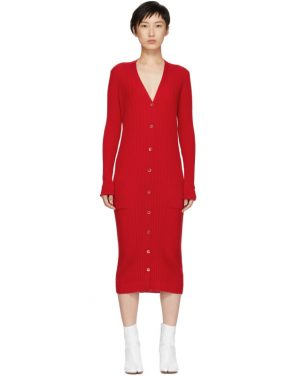 photo Red Ribbed Dress by Maison Margiela - Image 1