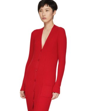 photo Red Ribbed Dress by Maison Margiela - Image 4