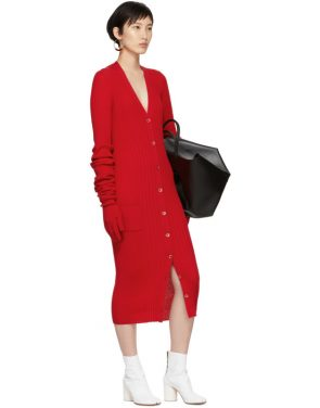 photo Red Ribbed Dress by Maison Margiela - Image 5