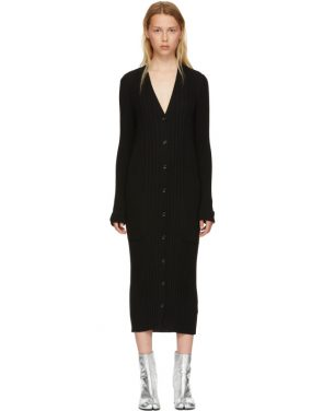 photo Black Wool Ribbed Dress by Maison Margiela - Image 1