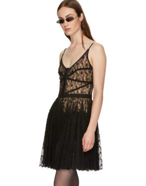 photo Black Fitted Bodice Dress by Alexander Wang - Image 4