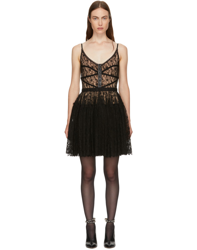 photo Black Fitted Bodice Dress by Alexander Wang - Image 1
