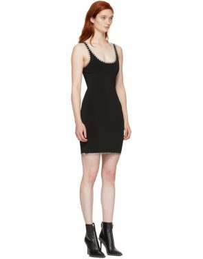 photo Black Eyelet Cami Mini Dress by Alexander Wang - Image 2