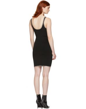 photo Black Eyelet Cami Mini Dress by Alexander Wang - Image 3