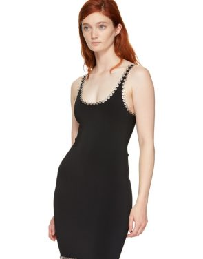 photo Black Eyelet Cami Mini Dress by Alexander Wang - Image 4