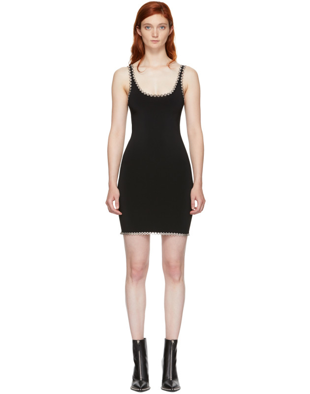 photo Black Eyelet Cami Mini Dress by Alexander Wang - Image 1