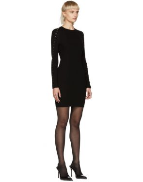 photo Black Splittable Snap Dress by Alexander Wang - Image 2