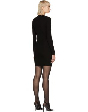 photo Black Splittable Snap Dress by Alexander Wang - Image 3