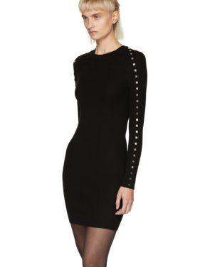 photo Black Splittable Snap Dress by Alexander Wang - Image 4