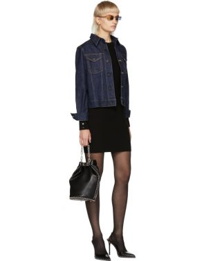 photo Black Splittable Snap Dress by Alexander Wang - Image 5