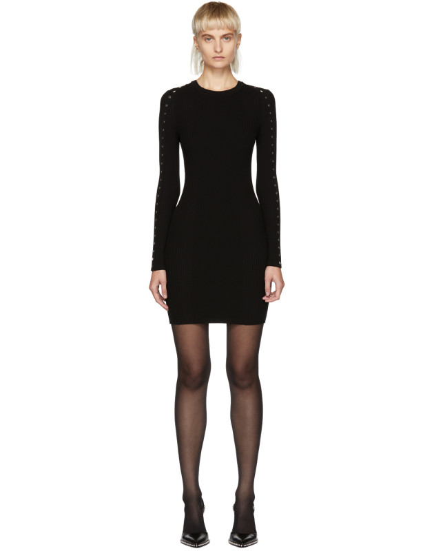photo Black Splittable Snap Dress by Alexander Wang - Image 1