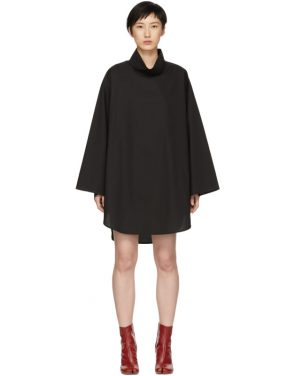 photo Black Poplin Turtleneck Dress by MM6 Maison Martin Margiela - Image 1