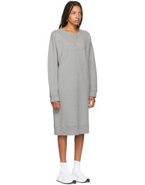 photo Grey Sweatshirt Dress by MM6 Maison Martin Margiela - Image 2