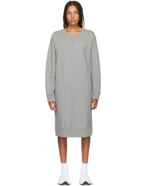 photo Grey Sweatshirt Dress by MM6 Maison Martin Margiela - Image 1