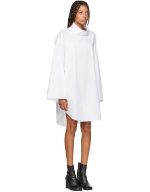 photo White Turtleneck Dress by MM6 Maison Martin Margiela - Image 2