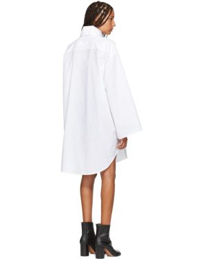 photo White Turtleneck Dress by MM6 Maison Martin Margiela - Image 3