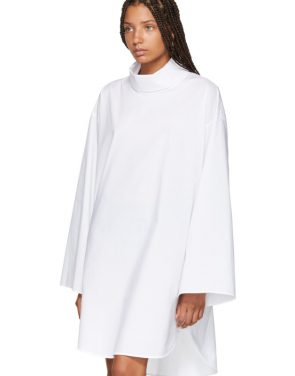 photo White Turtleneck Dress by MM6 Maison Martin Margiela - Image 4